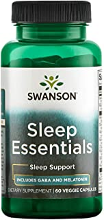 Swanson Sleep Essentials 60 Veg Capsules