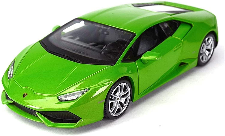 alta calidad y envío rápido YaPin Model Coche Coche Coche 1 24 Lamborghini Huracan Aleación Original Modelo de Coche de Aleación de Simulación Adornos de Metal 17x8.5x4.8 CM Modelo de Coche ( Color   verde )  envío gratuito a nivel mundial