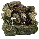 Sunnydaze Aged Tree Trunk Tabletop Water Fountain...