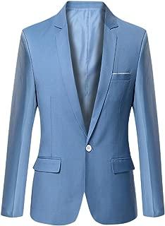 Men's Blazer Jacket Lightweight Casual Slim Fit One Button Sport Jackets