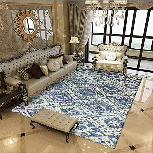alfombras Juveniles Cuadros habitacion Juvenil La Alfombra Rectangular Azul de la habitación de los niños Puede ser Lavado a máquina Alfombra Jardin Exterior 200X280CM 6ft 6.7' X9ft 2.2'