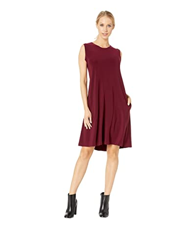 KAMALIKULTURE by Norma Kamali Sleeveless Swing Dress (Plum) Women