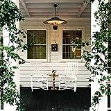 DYCLE 1500W Electric patio heater,Garden balcony Hanging heater,2 levels comfort heating,Outdoor or indoor use,IP24 waterproof