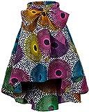 Shenbolen Women African Traditional Costume Flower Print Casual Dashiki Skirt (Small,F)