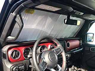 HeatShield, The Original Windshield Sun Shade, Custom-Fit for Jeep Wrangler SUV w/o Advanced Safety Group Package 2018, 20...