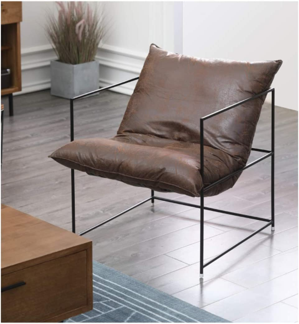 LIAN Simple Lazy Sofa Comfortable Livi 2021 spring and OFFer summer new Single Bedroom Brown