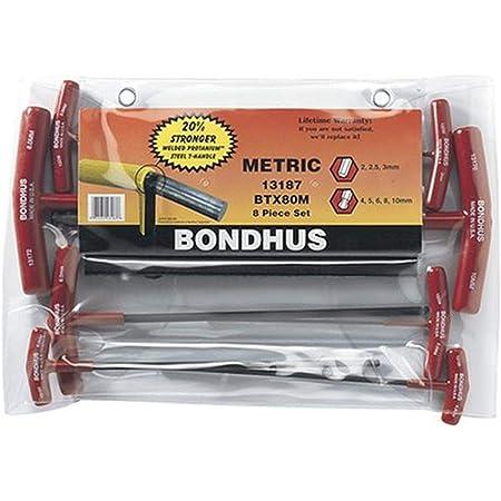 2-Pack Bondhus 13187 Set of 8 Balldriver and Hex T-handles sizes 2-10mm