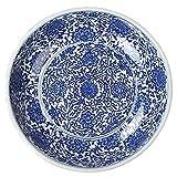 Porcelain plate, Japonés estilo Cerami 13 pulgadas de gran tamaño Super Extra Extra Gran Cuenco Mezcla Gran Capacidad Fruta Ensalada Cuenco Fideos Vegetales Cuenca Decoración Colección Contenedor Alma