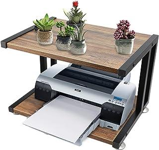 PRITI Wood Printer Stand, Multipurpose Storage Shelf for Home, Office, Printer Desk, 2 Tier (Brown)