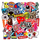 Brand Stickers 100PCS for Water Bottles,Fashion Cool Aesthetic Hypebeast Stickers,Laptops Sticker,Waterproof Vinyl Decal Sticker for Phone, Computer,Cars, Bicycles, Mac Book, PS4, Xbox ONE (Brand)