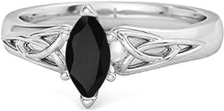 Shine Jewel Multi Elija su Piedra Preciosa Anillo Celta con diseño de Banda de Nudo de la Trinidad de Plata esterlina 925 ...