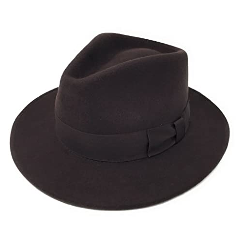 Cotswold Country Hats Mens Handmade Wool Felt Indiana Style Crushable Fedora  Hat - Small 94e14499f75