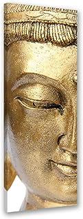Feeby. Cuadro en Lienzo - 1 Parte - 40x120 cm, Imagen impresión Pintura decoración Cuadros de una Pieza, Buda, RELIGIÓN, Cultura, MARRÓN
