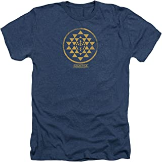 Battlestar Galactica Gold Squadron Patch Men's Heather T-Shirt