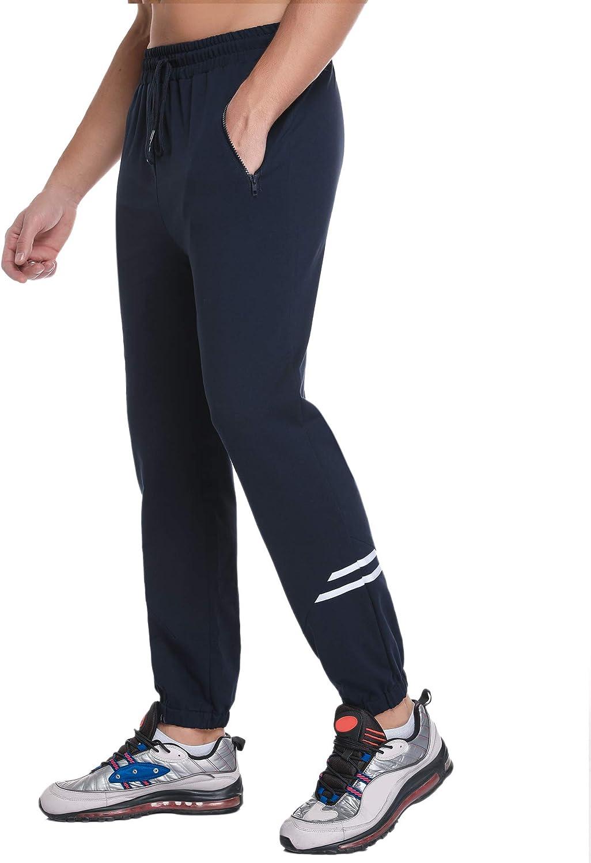 Sykooria Pantalón Deportivos para Hombre 95% Algodón,Verano Pantalones de Ocio Transpirable para Hombre con Bolsillos,Ligero & Suave con Banda Elástica, para Jogging Ejercicio