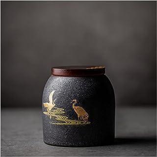 Tea Retro Caddy Ceramics Puer Tea Tea Boîte de rangement Boîte à thé Jar Candy Jar Conteneur Accessoires de thé pour la ma...