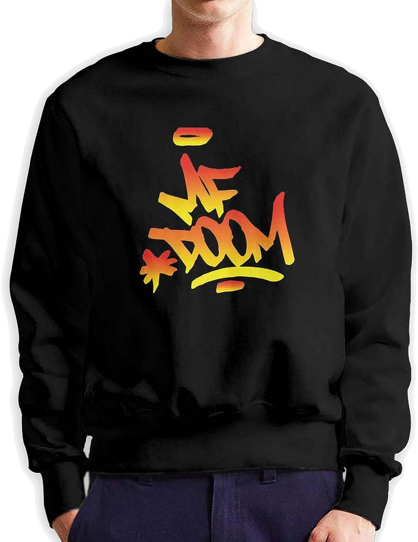 Mf Doom Men'S Long Sleeve Printed Pullover Cotton Black