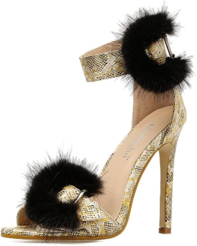 de70762f20475 LINYI Womens Ladies High Heel Roman Stiletto Heels Hollow Hair Party ...