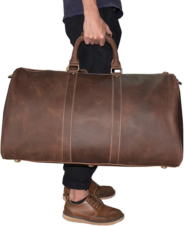 KERVINFENDRIYUN YY4 Herren Leder Tote Tasche Sohle Leder Umhngetasche Schulter Messenger Bag Business Travel Computer Rucksack (Farbe   3)