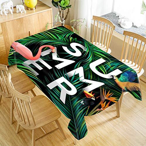 XXDD Mantel de Flamenco Oxford Estampado Rectangular Impermeable a Prueba de Aceite Boda Decorativa decoración del hogar Cubierta de Mesa A8 140x200cm