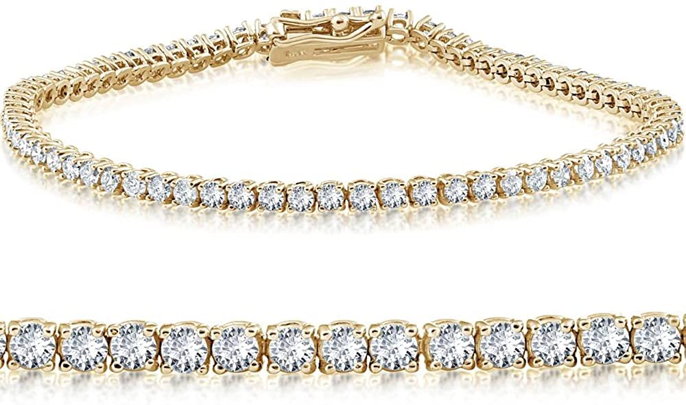 14K Nashville-Davidson Mall Yellow Gold 2 ct Bracelet Max 54% OFF Tennis 7