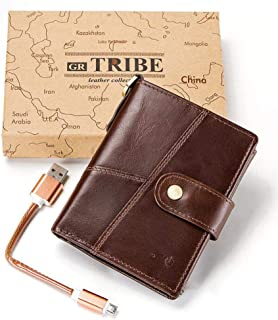 Wallet Credit Card HolderMen's Wallet_RFID Leather high-end Wallet Smart Anti-Lost Anti-Theft @Brown