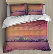 Soft Printed Bedding Set arabia on the rise construction cranes in abu dhabi emirates Duvet Cover Pillow Case Pattern Duvet Cover Sets with pillowcase Twin size