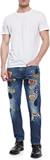 True Religion Men's Dean Tapered Well Traveled Patchwork Jean