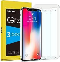 [3-Pack] Protector Pantalla iPhone XS/X, SPARIN Cristal Templado iPhone XS/X, Vidrio Templado Protector de Pantalla con [2.5d Borde redondo] [9H Dureza] [Alta Definicion] para iPhone XS/X