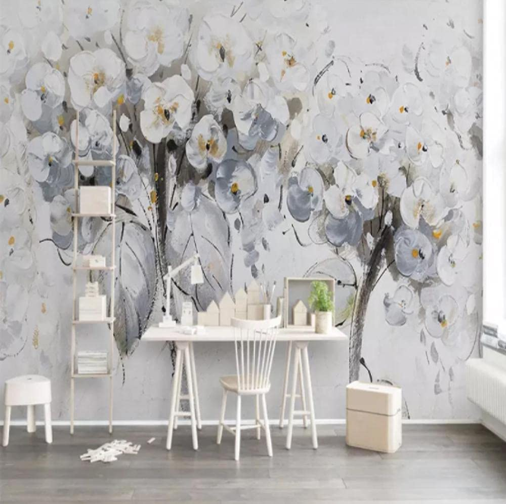 Glfeng Custom Any Size Mural Wallpaper Oil Painting Flower Miami Mall Nordi 1 year warranty
