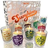 BeKind Sunshine Scented Candles Set for Home – Perfect Home Décor, Birthday Gifts for Women, Stress Relief, Natural Soy Candle Wax and Air freshener Fragrance, Aromatherapy Candle - 9 Pack