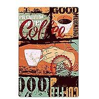 レトロウォールアートポスター板金シールドヴィンテージスタイルの壁飾りコーヒータトゥーカフェバーパブコーヒー壁の装飾,5