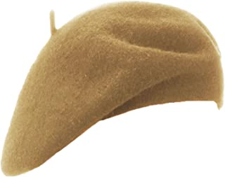 Wheebo Wool Beret Hat,Solid Color French Style Winter Warm Cap for Women Girls Lady