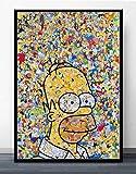 LDTSWES Puzzle Anime Simpsons, Puzzle in Legno da 1000 Pezzi, per Puzzle di Giochi educativi per Bambini Adulti