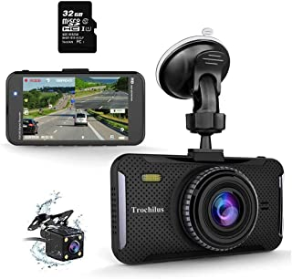 """Trochilus Dual Dash Cam 4"""" 1080P Front and Rear Dash Cams, 170 Degree Wide Angle Car Camera with G-Sensor, WDR, Loop Recor..."""