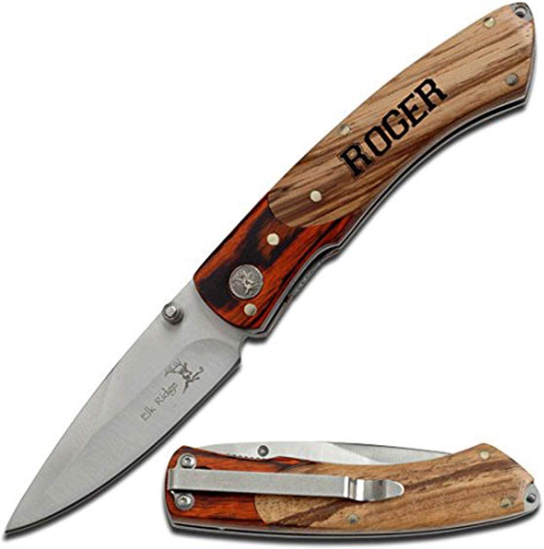 Elk Ridge Free Engraving Custom Pocket Quality Knife Gift For Al