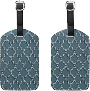 MASSIKOA 3D Islamic Morocco Cruise Luggage Tags Suitcase Labels Bag,2 Pack