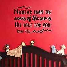 MoharWall Adesivo de parede com citações de salmo para quarto de bebê, quarto de bebê, adesivo de arte em vinil, mais fort...
