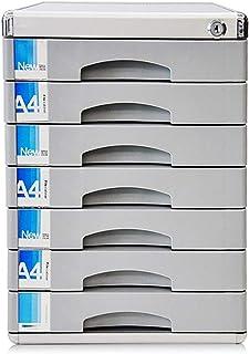 Armoire à fichiers Armoires de classement Cabinet de bureau en plastique avec serrure à clé en plastique de bureau avec 7 ...