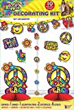 Forum Novelties 75624 Hippie Decor Kit, Blue, Standard, Multicolor, Pack of 1