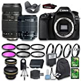 Canon EOS 80D DSLR Camera Bundle with Canon EF-S 18-55mm f/3.5-5.6 is Lens + Tamron Zoom Telephoto AF 70-300mm Lens + Wideangle Lens + Telephoto Lens + 2pc 32 GB Cards + 6pc Filter Kit