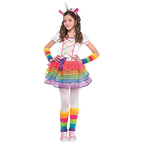b7be059e23bee Rainbow Unicorn Girls Fancy Dress Fairy Tale Book Day Animal Kids Childs  Costume (Age 3
