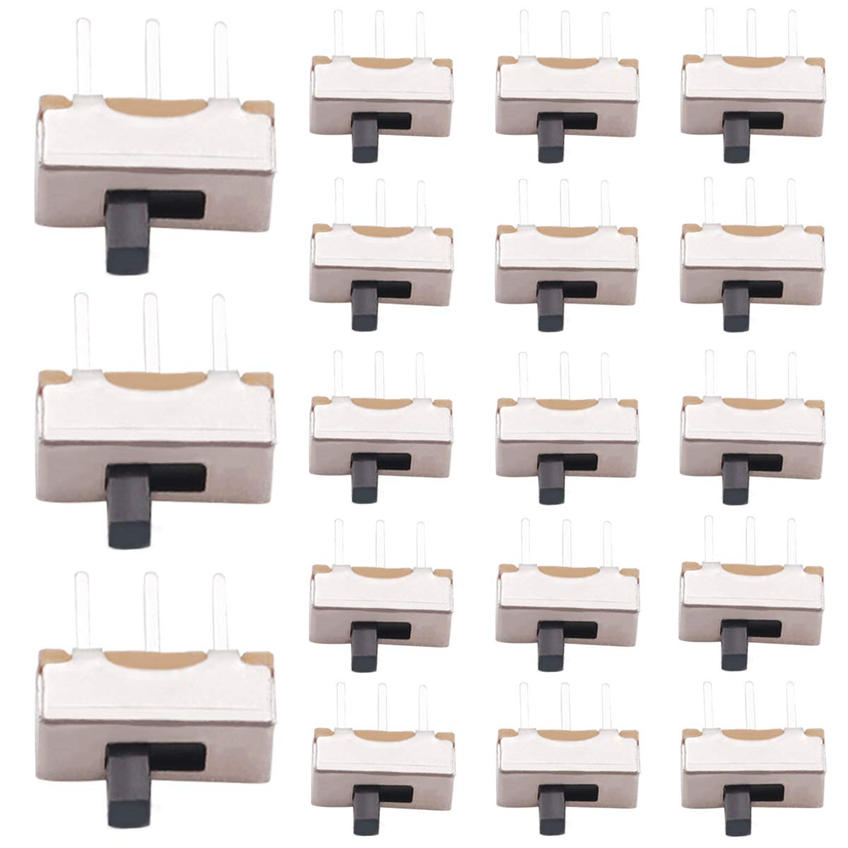 mxuteuk 60pcs Vertical Slide Switches Micro Pin 2 High Po 3 Knob Ranking TOP5 Directly managed store