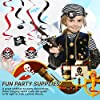 PIRATE HANGING SWIRLS - Party Decor - 12 Pieces #1