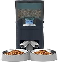 HoneyGuaridan 7L Alimentador automático de Mascotas con dispensador de Dos vías, dispensador de Comida para Perros y Gatos...