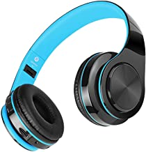 TeaBoy Active Noise Cancelling Headphones Bluetooth Headphones with Microphone, Folding Wireless and Wired Headphones Over...