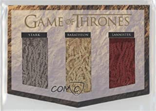 Lannister, Baratheon, Stark (Trading Card) 2017 Rittenhouse Game of Thrones: Valyrian Steel - Triple Banner Relics #NoN