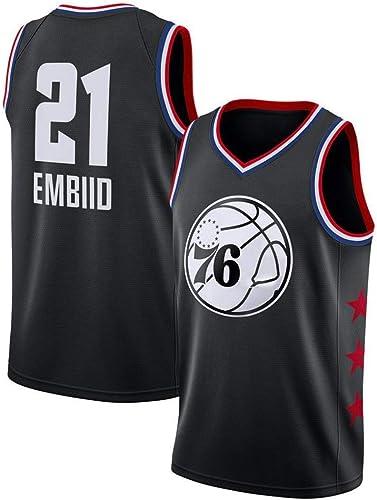 ZAIYI Maillot de Basketball pour Homme Joel Embiid   21 - NBA Philadelphia 76ers Shirt Nouveau Maillot brodé en Tissu Swinghomme