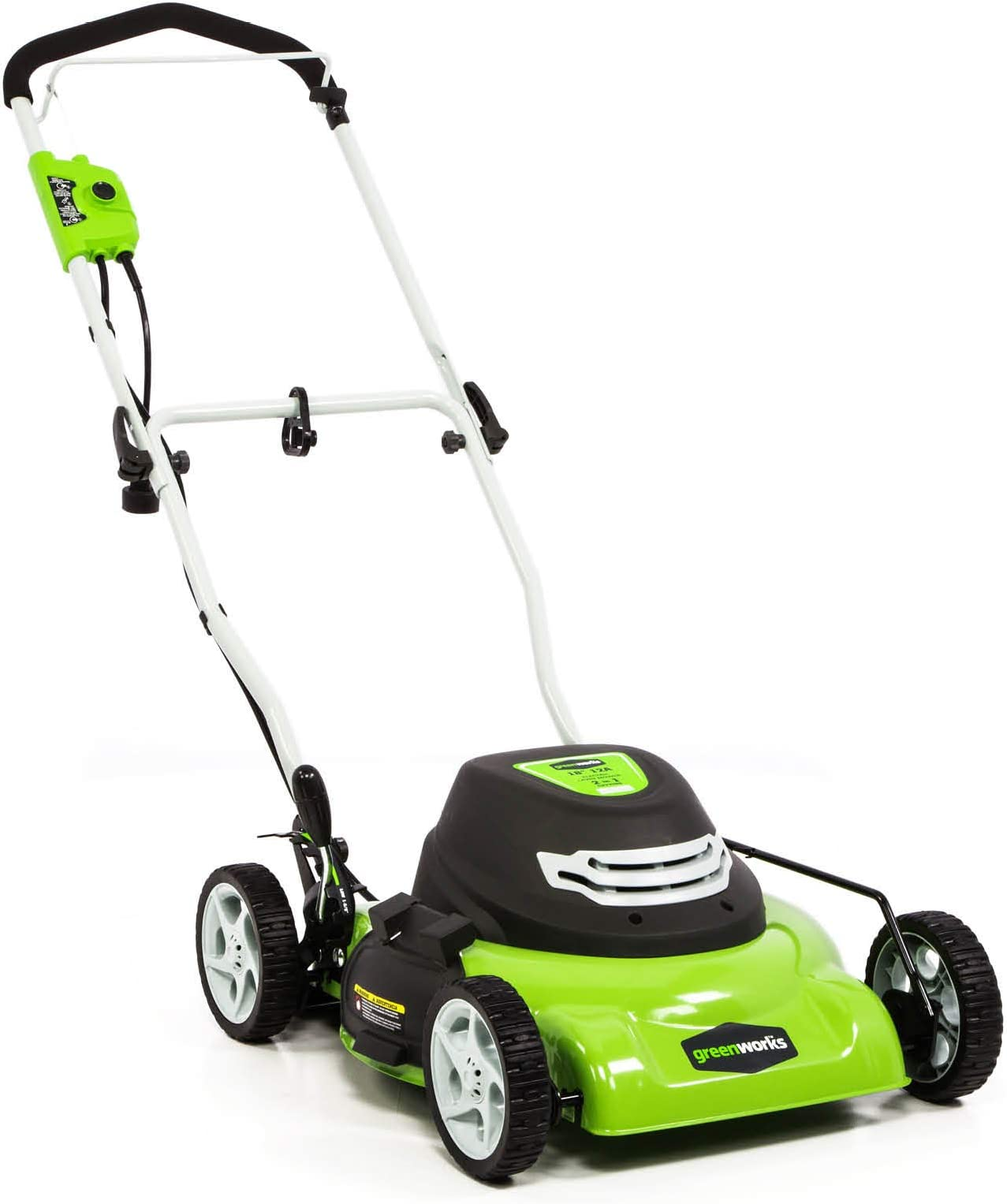 Greenworks 12 Amp 18-Inch Corded Electric Lawn Mower, 25012