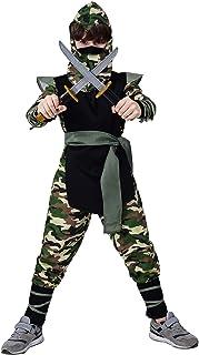 PGOND Ninja Costume for Boys Fancy Dress Halloween Party 7-9Y